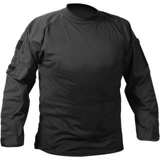 Black Military Army Flame Resistant Tactical Combat FR Shirt