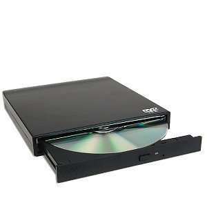 8x USB 2.0 Ultra Slim External DVD ROM Drive (Black