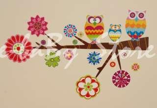 Boy/Girls/Kid/Children Bedroom OWL/FLOWER Wall Stickers