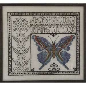 Blue Watercolor Butterfly Cross Stitch Pattern (S 1124