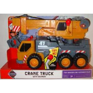 Matchbox Orange Crane Truck with Sounds: Toys & Games