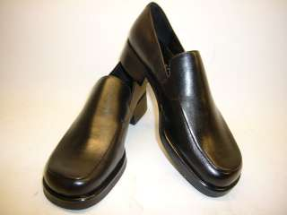 NEW FRANCO SARTO BOCCA BLACK LEATHER TAILORED SLIPONS