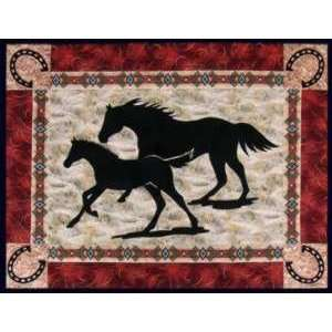 9885 Mare and Foal Laser Cut Fusible Appliques Arts, Crafts & Sewing
