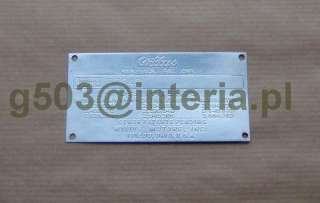 JEEP CJ3B 1955 1965 SERIAL NUMBER DATA PLATE ID TAG