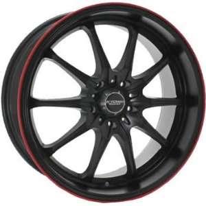 Kyowa Trek 10 18x8 Black Red Wheel / Rim 5x100 with a 40mm