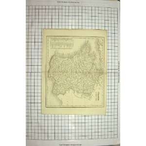DOWER ANTIQUE MAP FRANCE BAY BISCAY MEDITERRANEAN: Home & Kitchen