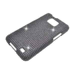 Samsung Galaxy S II Attain i777/i9100 Diamond Rhinestone Case Black