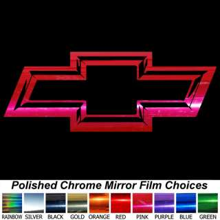 3D Look PINK CHROME CHEVY BOWTIE 13 Auto Window Decal