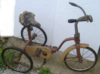 EARLY CHILD CHILDREN OLD BICYCLE BIKE TRICYCLE CHAIN