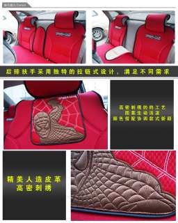Spiderman Auto Car Seat Cover Cushion Set Red 10pc 2501