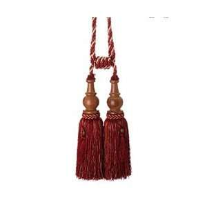 Beaded Ruby Red and Gold Matilda Tassel