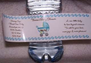 40 BABY SHOWER WATER BOTTLE LABELS GLOSSY / WATER PROOF