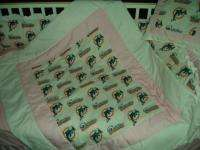 PINK Baby Nursery Crib Bedding Set w/Miami Dolphins