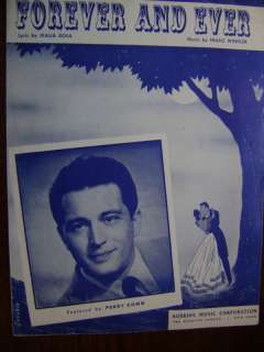 1947 Sheet Music Forever and Ever Perry Como song