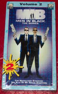 MIB MEN IN BLACK Series Vol. 2 VHS 2 episodes SEALED