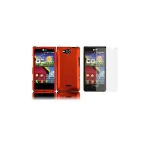 LG Lucid (Verizon) Premium Combo Pack   Orange Hard Shield
