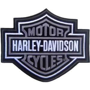 Harley Davidson Bar & Sheild Patch (Silver) X Small