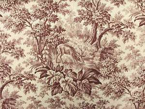 Antique French toile fabric UNUSED bolt ~ by the yard !