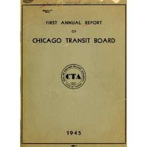 Annual Report Chicago Transit Authority Books