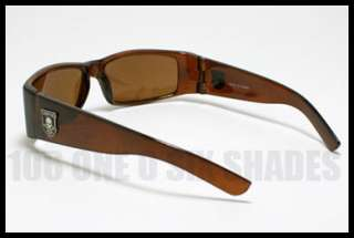 BIKER Sunglasses for Men Motorcycle Rider Style BROWN Casual