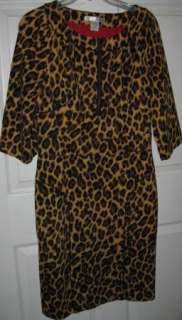 WD NY W D N Y Leopard print banded shift dress 8