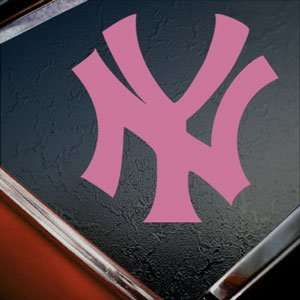 NEW YORK YANKEES Pink Decal NY Car Truck Window Pink