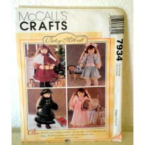 McCalls Crafts 7934 Doll Clothes for 18 Doll Betsy McCall