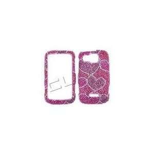 Rhinestone Bling Hot Pink Red Purple Hearts Valentine Valentine Design