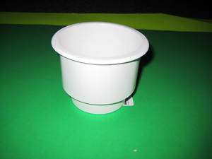WHITE TWO TIERD POKER TABLE BOAT RV CUP HOLDER 10 PACK