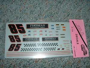 JNJ Hobbies 1/24 25 Decals #85 Thomas Chevrolet Ge NN