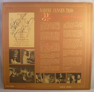 NADINE JANSEN TRIO 9 LIVE ONES THE FAT CAT SIGNED JAZZ
