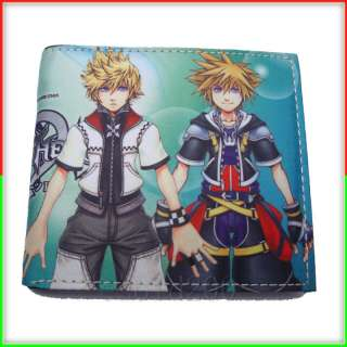 Anime Kingdom Hearts Sora & Roxas & Kairi Purse Wallet
