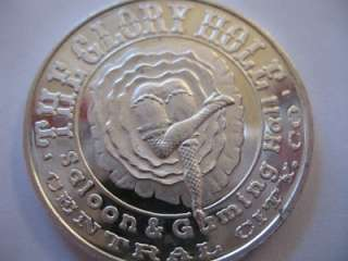 SILVER HISTORIC CENTRAL CITY CO GLORY HOLE BULLION COIN + GOLD