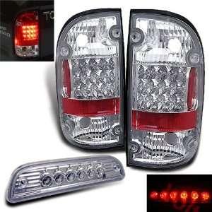 95 00 Tacoma Pickup LED Tail Lights+led 3rd Brake Lamp Automotive