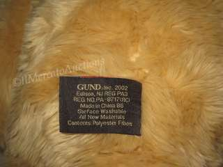 2002 GUND 100th Anniversary Wish BEAR Stuffed Plush TAN Teddy Toy 26