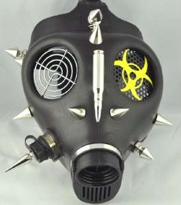 BULLET SPIKE GAS MASK CYBER PUNK BIO HAZARD HALLOWEEN