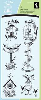 For The Birds Inkadinkado Clear Stamps 4X8 Sheet ICCSO 30106