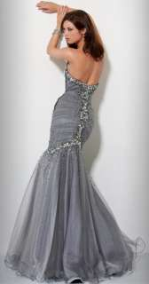 2012 Elegant Mermaid Beads Wedding Evening Prom Ball Gown Party Dress