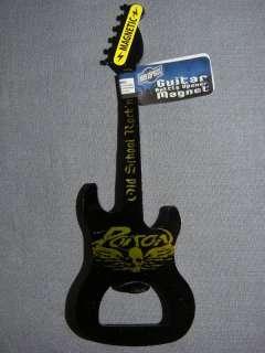 POISON OLD SCHOOL ROCK N ROLL SKULL LOGO METAL GUITAR BOTTLE OPENER