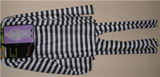 Mens Striped CONVICT PRISONER JAIL Bird Costume Adult Size Chain Gang