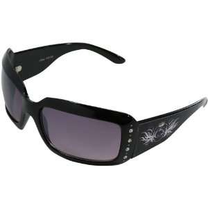 Lions Ladies Black Crown Rhinestone Sunglasses