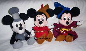 Disney Mickey Mouse Steamboat Tailor & sorcerer plush