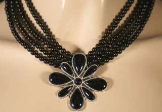 Jay King MINE FINDS Black Obsidian Necklace & Pendant Sterling Silver