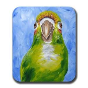 Green Cheek Conure Bird Parrot Art Mouse Pad Everything