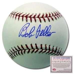Bob Feller Cleveland Indians Hand Signed Rawlings MLB Baseball