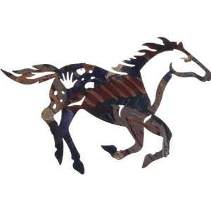 Lazart® 14 Painted Ponies Laser Cut Metal Wall Art