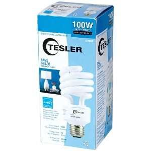 Tesler 25 Watt Warm White Energy Star Spiral CFL Bulb