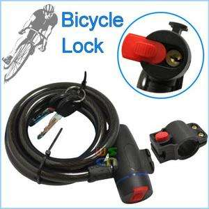Bike Bicycle Motorbike Steel Cable Lock Security 2 Keys