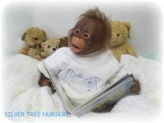 REBORN Monkey BINKI ORANGUTAN by Denise Pratt VINYL DOLL KIT Adorable