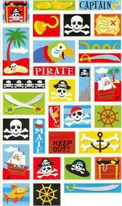 Amscan Little Boys Pirate Birthday Party Favor Stickers